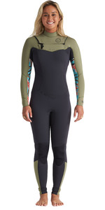 2020 Billabong Womens Salty Dayz 5/4mm Chest Zip Wetsuit S45G51 - Aloe