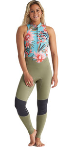 2020 Billabong Womens Salty Jane 2mm Front Zip Wetsuit S42G54 - Waterfall