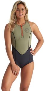 2020 Billabong Womens Shorty Jane 1mm Crossback Spring Wetsuit S41G62 - Aloe