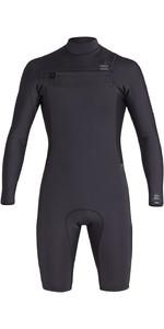 2020 Billabong Mens Revolution 2mm Long Sleeve Chest Zip Wetsuit S42M58 - Black Camo