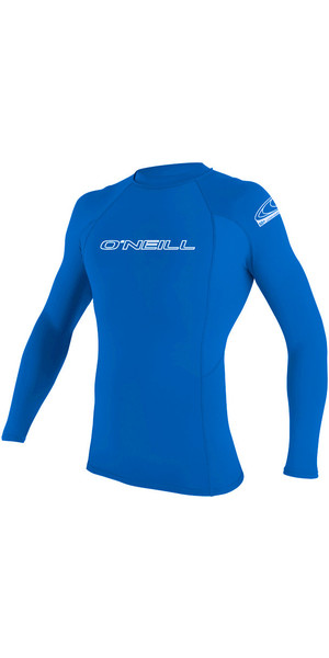 2018 O'Neill Basic Skins Long Sleeve Crew Rash Vest PACIFIC 3342