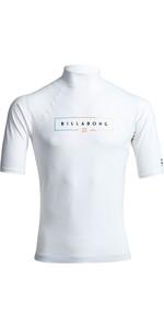 2020 Billabong Unity Short Sleeve Rash Vest S4MY20 - White