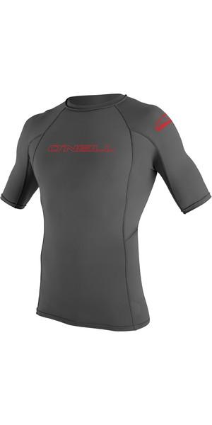 2019 O'Neill Youth Basic Skins Short Sleeve Rash Vest Graphite 3345