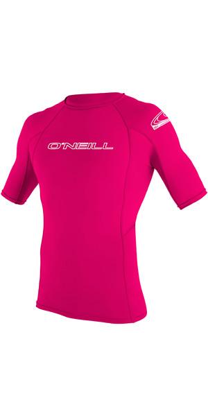 2019 O'Neill Youth Basic Skins Short Sleeve Rash Vest Watermelon 3345