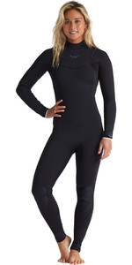 2020 Billabong Womens Eco Salty Dayz 4/3mm Chest Zip GBS Wetsuit S44G50 - Onyx