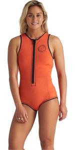 2020 Billabong Womens Sol Sistah 2mm Sleeveless Shorty Wetsuit S41G60 - Samba