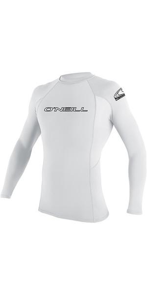 2018 O'Neill Youth Basic Skins Long Sleeve Rash Vest White 3346
