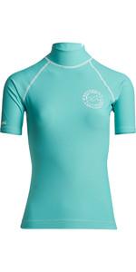 2020 Billabong Womens Logo In Short Sleeve Rash Vest S4GY02 - Seafoam
