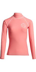 2020 Billabong Womens Logo In Long Sleeve Rash Vest S4GY04 - Coral Kiss