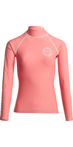 2020 Billabong Womens Logo In Long Sleeve Rash Vest S4GY04 - Coral Kiss