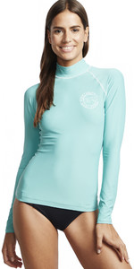 2020 Billabong Womens Logo In Long Sleeve Rash Vest S4GY04 - Seafoam