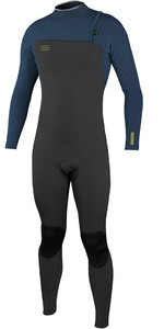 2020 O'Neill Mens Hyperfreak Comp 3/2mm Zipperless Wetsuit 4970 - Black / Abyss