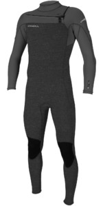 2021 O'Neill Mens Hammer 3/2mm Chest Zip Wetsuit 4926 - Acid Wash / Smoke