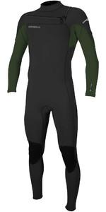 2021 O'Neill Mens Hammer 3/2mm Chest Zip Wetsuit 4926 - Black / Dark Olive