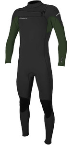 2020 O'Neill Mens Hammer 3/2mm Chest Zip Wetsuit 4926 - Black / Dark Olive