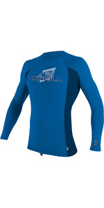 2020 O'Neill Youth Premium Skins Long Sleeve Rash Vest 4174 - Ocean / Abyss