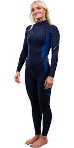 2020 O'Neill Womens Bahia 3/2mm Back Zip Wetsuit 5292 - Abyss / French Navy