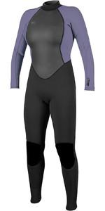 2021 O'Neill Womens Reactor II 3/2mm Back Zip Wetsuit 5042 - Black / Mist