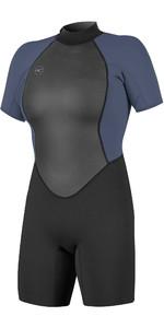 2021 O'Neill Womens Reactor II 2mm Back Zip Shorty Wetsuit 5043 - Black / Mist
