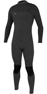 2020 O'Neill Mens Hyperfreak Comp 3/2mm Zipperless Wetsuit 4970 - Acid Wash / Graphite