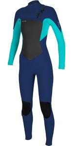 2021 O'Neill Womens Epic 3/2mm Chest Zip GBS Wetsuit 5355 - Navy / Light Aqua
