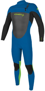 2020 O'Neill Youth Epic 3/2mm Chest Zip GBS Wetsuit 5357 - Ocean / Black / Day Glo