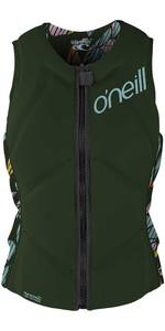 2020 O'Neill Womens Slasher Comp Impact Vest 4938EU - Dark Olive / Baylen