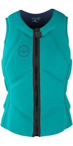 2020 O'Neill Womens Slasher B Comp Impact Vest 5331EU - Light Aqua / Navy