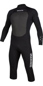 2021 Mystic Mens Brand 3/2mm Long Arm Short Leg Back Zip Wetsuit 200067 - Black