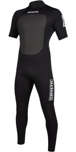 2021 Mystic Mens Brand 3/2mm Short Sleeve Back Zip Wetsuit 200068 - Black