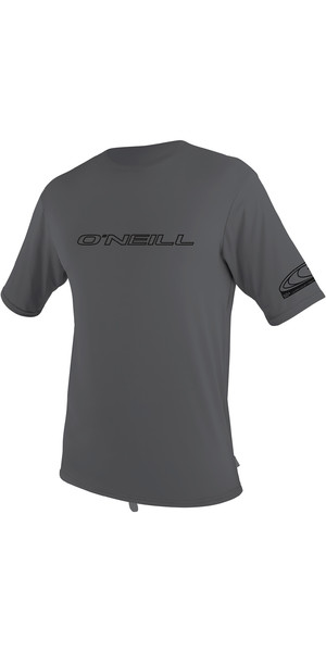 2019 O'Neill Basic Skins Short Sleeve Rash Tee Smoke 3402