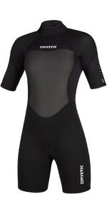 2020 Mystic Womens 3/2mm Back Zip Shorty Wetsuit 200084 - Black