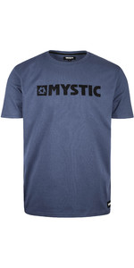 2020 Mystic Mens Brand T-Shirt 190015 - Denim Blue