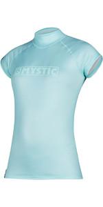 2021 Mystic Womens Star Quickdry Cropped Sleeve Rash Vest 200155 - Mist Mint