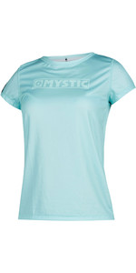 2021 Mystic Womens Star Short Sleeve Rash Vest 200151 - Mist Mint