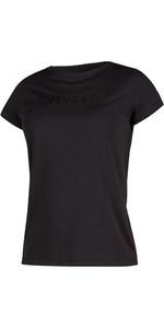 2021 Mystic Womens Star Short Sleeve Rash Vest 200151 - Black