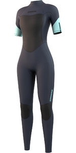 2021 Mystic Womens Brand 3/2mm Short Sleeve Wetsuit 210321 - Night Blue