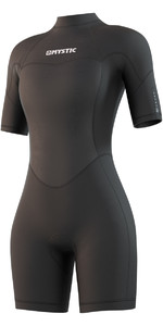2021 Mystic Womens Brand 3/2mm Back Zip Shorty Wetsuit 210323 - Black