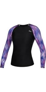 2021 Mystic Womens Diva Long Sleeve Rash Vest 210270 - Hollywood Pink
