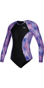 2021 Mystic Womens Diva Long Sleeve Swimsuit 210282 - Hollywood Pink