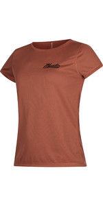 2021 Mystic Womens Diva Short Sleeve Quick Dry Rash Vest 190098 - Rusty Red