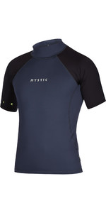 2021 Mystic Mens Crossfire Short Sleeve Rash Vest 200148 - Night Blue