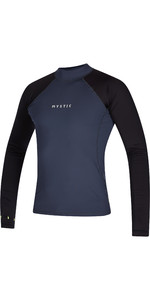 2021 Mystic Mens Crossfire Long Sleeve Rash Vest 200149 - Night Blue