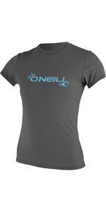 2019 O'Neill Womens Basic Skins Short Sleeve Rash Tee Graphite 3547