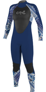 O'Neill Youth Girls Epic 4/3mm Back Zip GBS Wetsuit Navy / Indigo Patch 4216G