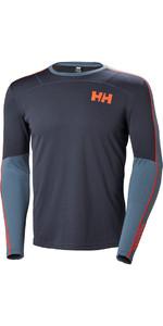 2019 Helly Hansen Lifa Active Crew Long Sleeve Base Layer Graphite Blue 48308