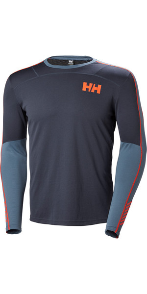 2019 Helly Hansen Lifa Active Crew Long Sleeve Base Layer Graphite Blue 48308