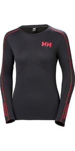 2019 Helly Hansen Womens Lifa Active Crew Light Long Sleeve T Shirt Ebony 48334