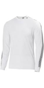 2019 Helly Hansen Lifa Stripe Crew Neck Base Layer LS Top White 48800