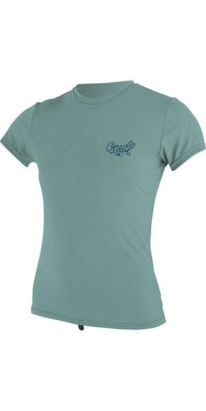 2018 O'Neill Womens Premium Skins Short Sleeve Rash Tee Aqua Haze 4898